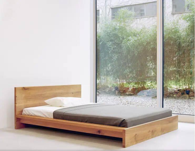 10 mẫu giường gỗ đơn giản cho phòng ngủ đẹp mê mẩn tối giản