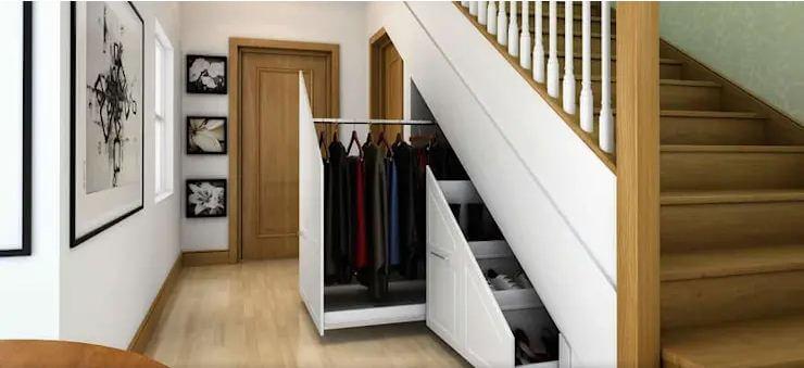 Tủ đồ dưới gầm chân cầu thang - Nội thất cho nhà nhỏ