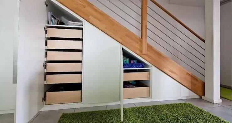Tận dụng không gian dưới gầm cầu thang - Nội thất cho nhà nhỏ