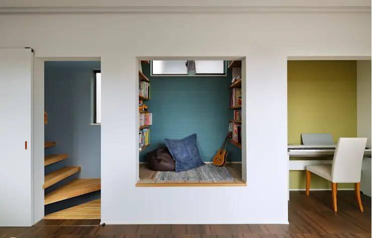 Biến hốc tường thành góc đọc ấm cúng - Nội thất cho nhà nhỏ