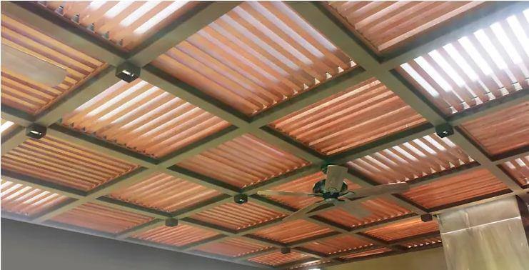 Mái hiên gỗ, khung kim loại - Thiết kế mái hiên đẹp