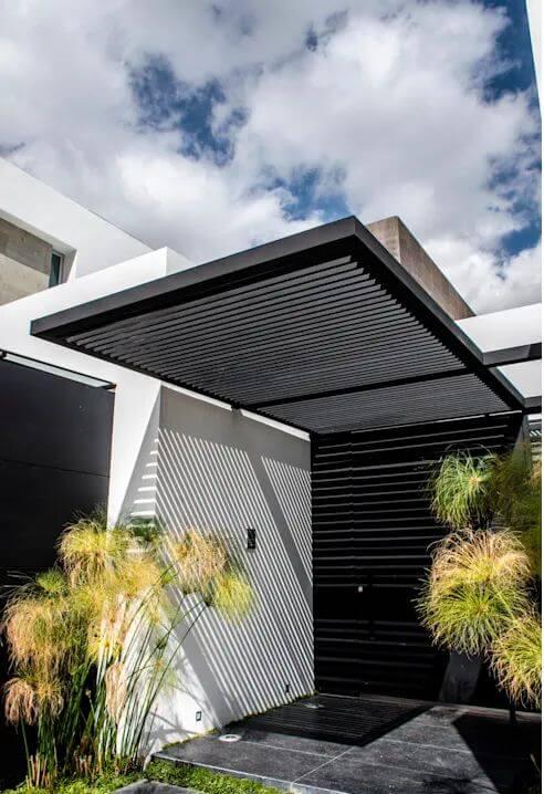 Mái đón hiện đại từ kim loại - Thiết kế mái hiên đẹp