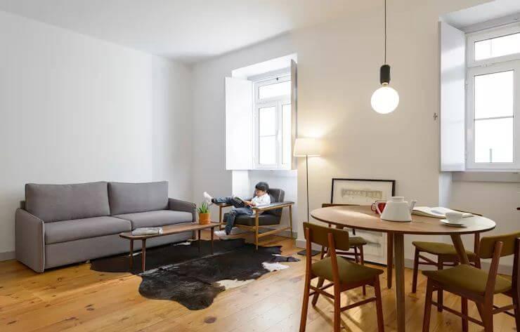 Phòng khách ấm cúng với không gian liên kết với bếp ăn - Cách trang trí phòng khách