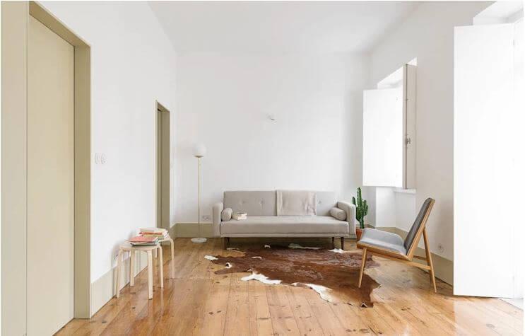 Đơn giản nhưng vẫn thu hút với phòng khách được thiết kế tối giản