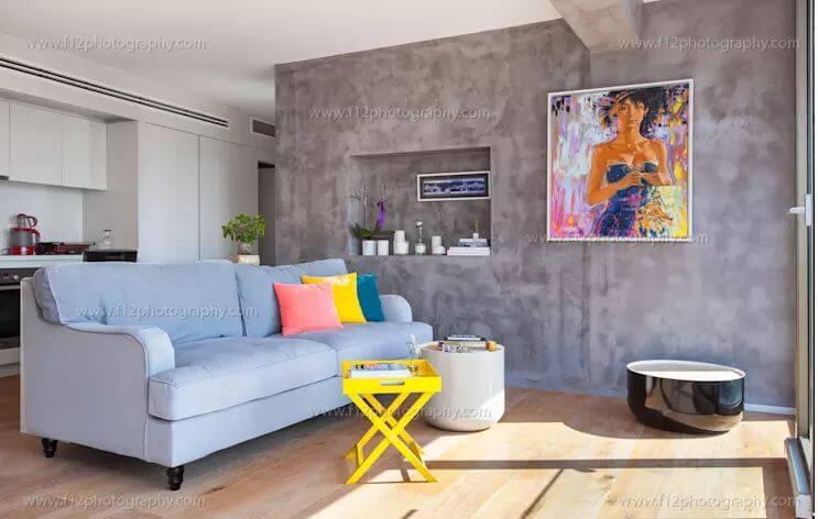 Cuộc dạo chơi của màu sắc trong thiết kế phòng khách mang tính đương đại