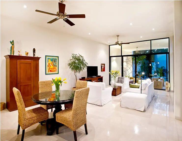 Phòng khách khang trang, hài hòa với nét đẹp hiện đại kết hợp truyền thống - Cách trang trí phòng khách