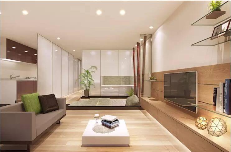 Loại TV thông minh - Không gian phòng khách đẹp