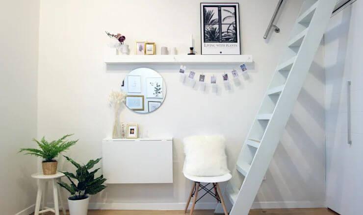 Gương tròn + Nghệ thuật tối giản - Thiết kế phòng khách