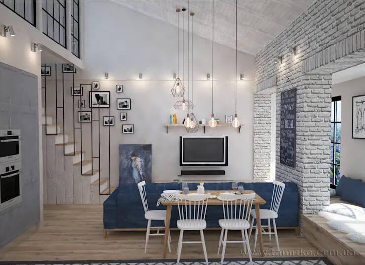 Thảm Vintage Thổ Nhĩ Kỹ + Đèn chùm pha lê - Thiết kế phòng khách