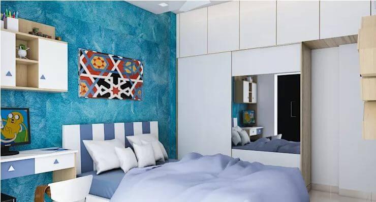Giường ngủ với ván đầu giường tinh xảo - Trang trí nội thất đẹp