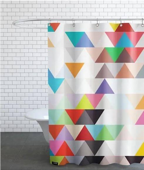 Đơn giản mà hiệu quả với mành treo họa tiết vui nhộn - Thiết kế phòng tắm