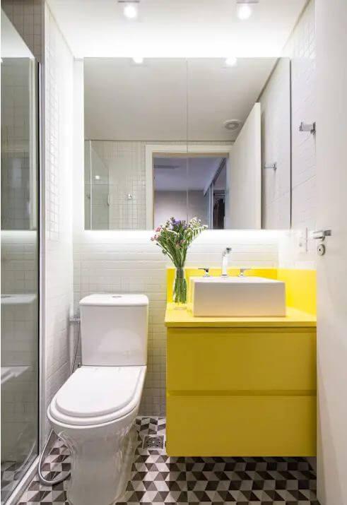 Ý tưởng đơn giản với tủ đầy màu sắc cho phòng vệ sinh hiện đại - Thiết kế phòng tắm