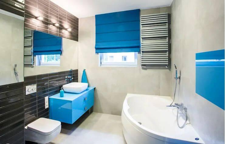 Gam màu xanh lạ mắt cho thiết kế phòng vệ sinh hiện đại - Thiết kế phòng tắm