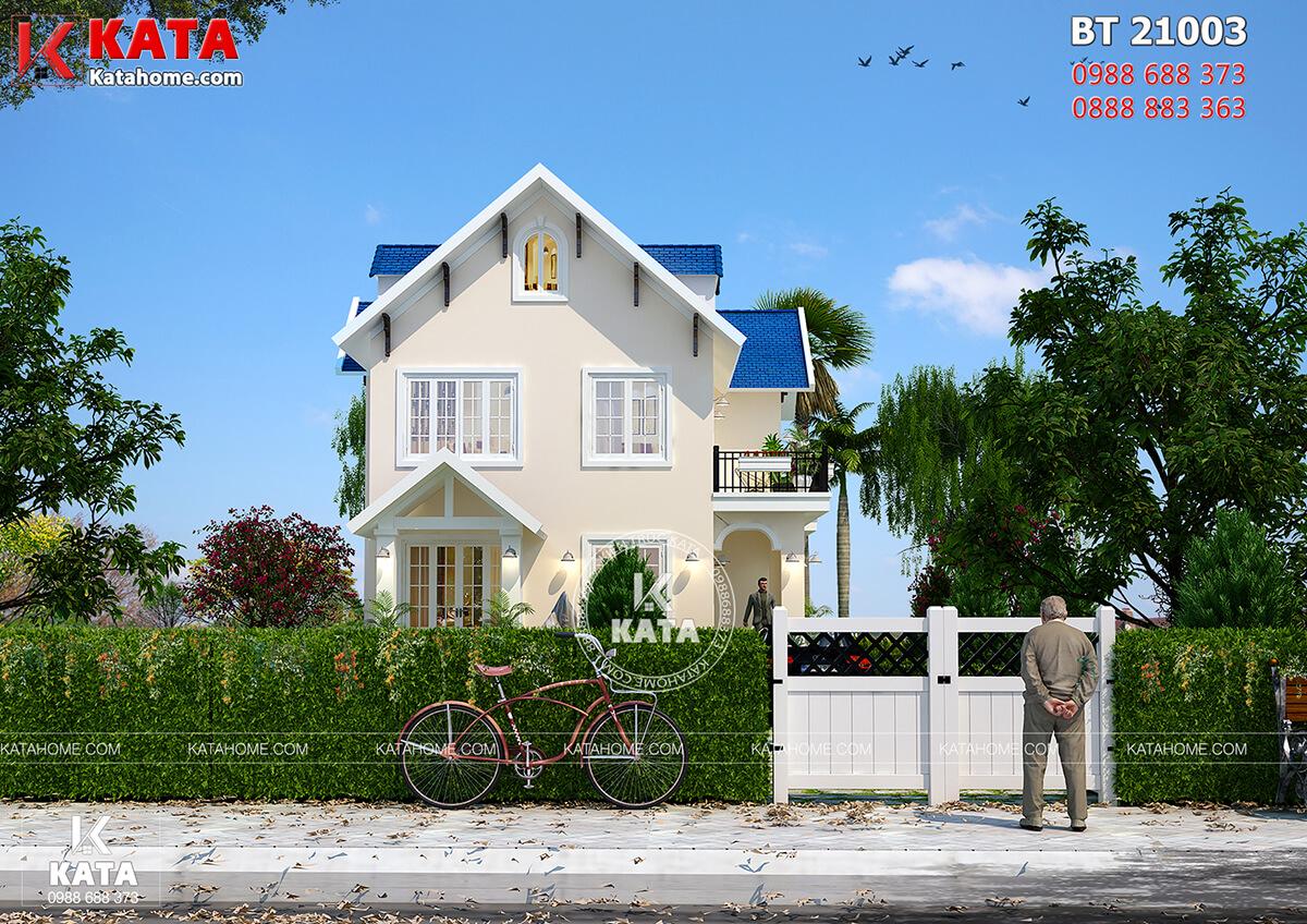 Hệ thống mái Thái hiện đại, đẳng cấp của mẫu nhà 2 tầng đẹp mái Thái
