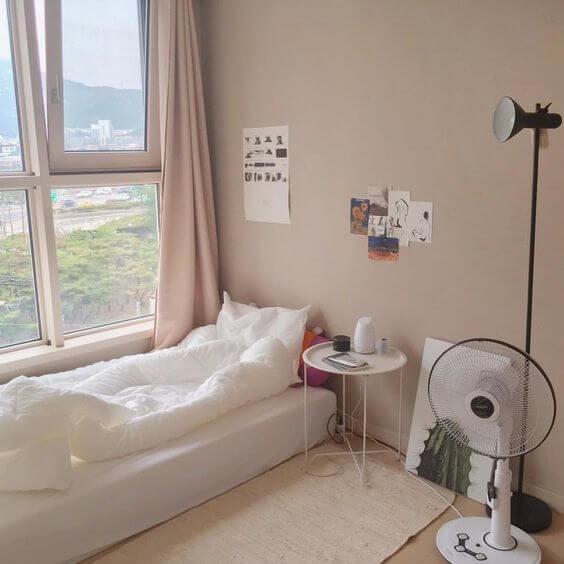 Cách trang trí phòng ngủ đẹp, xinh xắn theo phong cách Hàn Quốc - 1