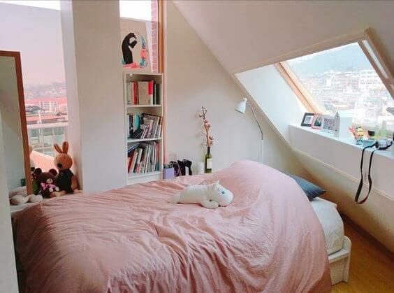 Cách trang trí phòng ngủ đẹp, xinh xắn theo phong cách Hàn Quốc - 3