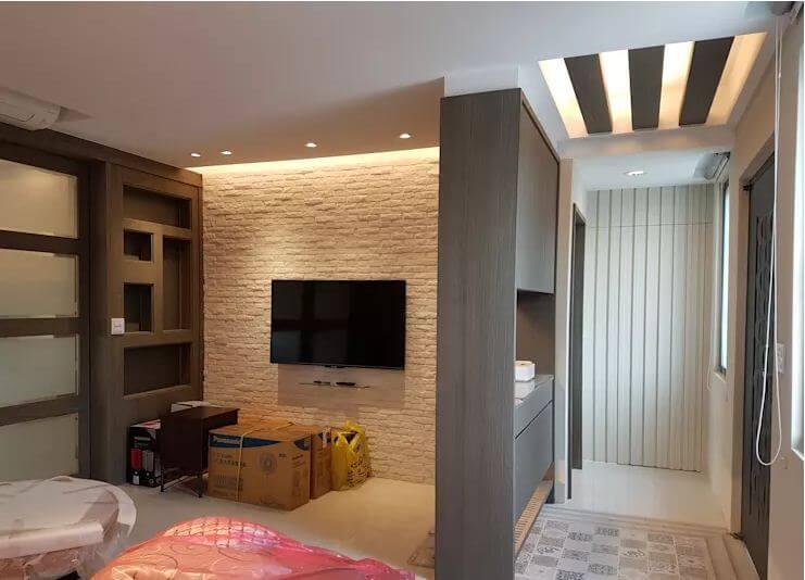 Phòng khách hiện đại, ấm cúng - Mẫu nhà tiền chế