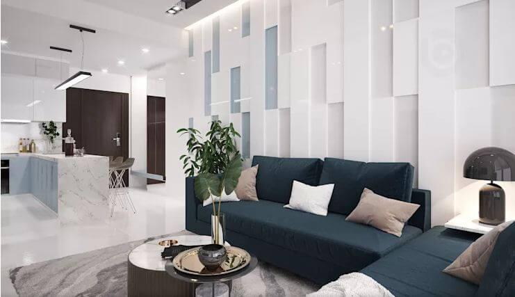 Không gian phòng khách sang trọng và tinh tế - Nội thất chung cư