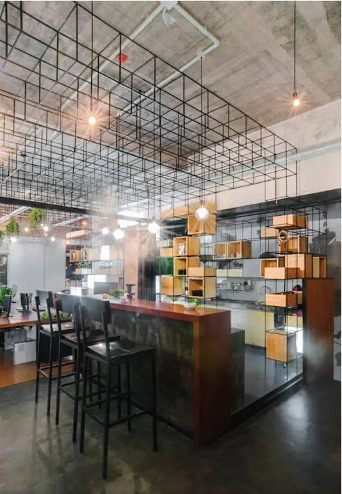 Không gian quầy Bar - Thiết kế quán Cà phê