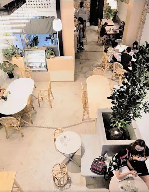 Tổng thể trong quán - Thiết kế quán Cafe