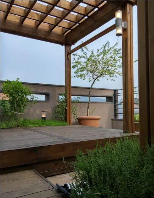 Thiết kế mái che tiện nghi cho không gian ngoài trời - Thiết kế sân vườn đẹp