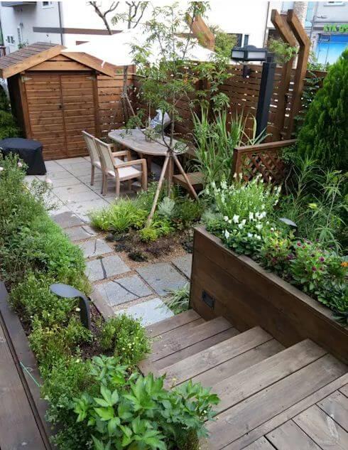 Khu vườn nhỏ đầu cốn hút ngay trên sân thượng - Thiết kế sân vườn đẹp