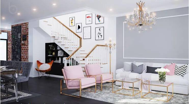 Tận dụng tối đa không gian dưới gầm cầu thang - Thiết kế Studio kết hợp với không gian nhà phố