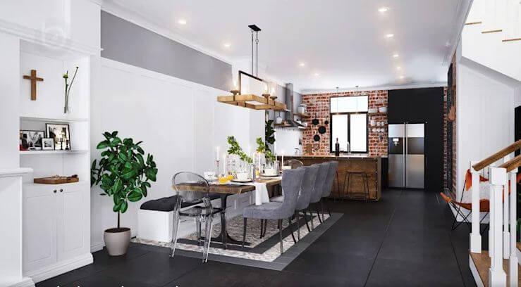 Thiết kế không gian mở - Thiết kế Studio kết hợp với không gian nhà phố