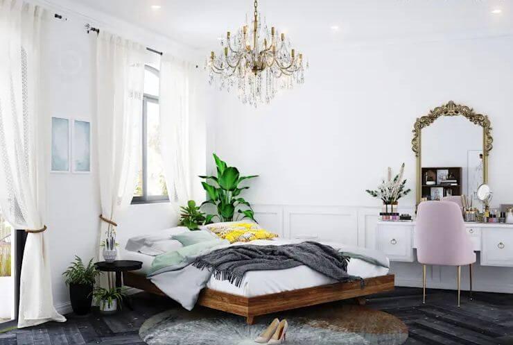 Phòng ngủ ấm cúng ngập tràn ánh sáng - Thiết kế Studio kết hợp với không gian nhà phố