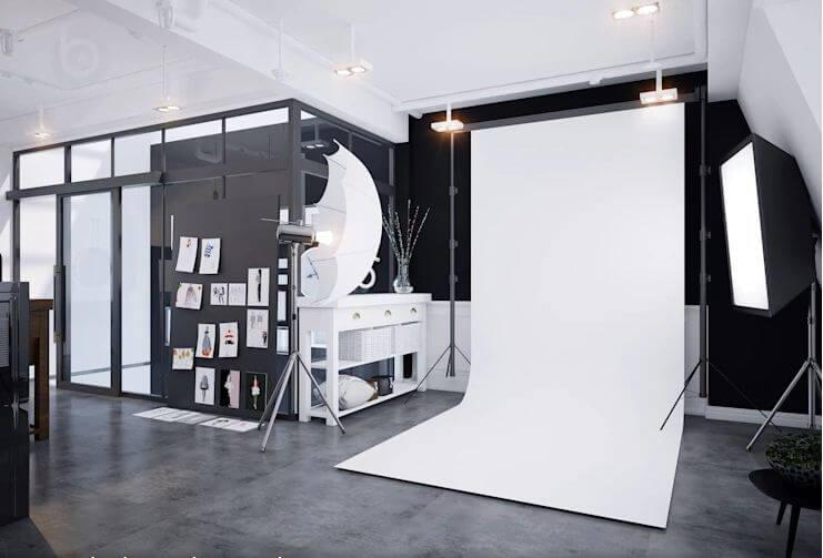 Studio hiện đại ngay trong không gian ở - Thiết kế Studio kết hợp với không gian nhà phố