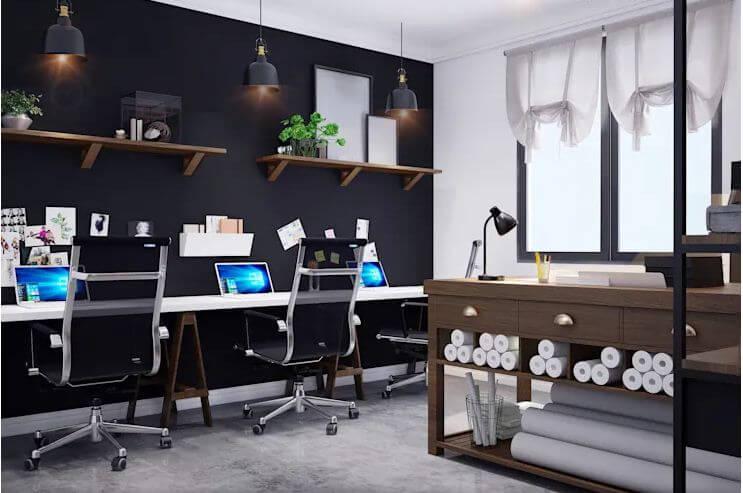 Studio hiện đại ngay trong không gian ở - Thiết kế Studio kết hợp với không gian nhà phố - 1