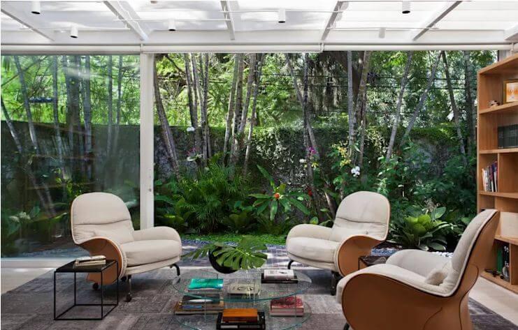 Không gian phòng đọc như hòa mình với thiên nhiên - Mẫu nhà vườn đẹp - 1