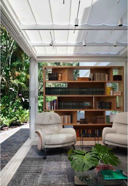 Không gian phòng đọc như hòa mình với thiên nhiên - Mẫu nhà vườn đẹp - 2