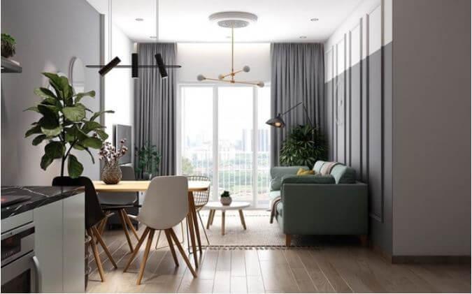 Trang trí căn hộ nhỏ đẹp với tone màu nhã nhặn dành cho mọi nhà - 2