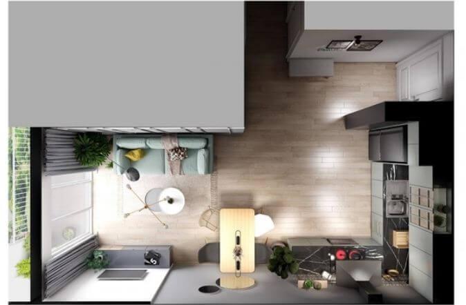 Trang trí căn hộ nhỏ đẹp với tone màu nhã nhặn dành cho mọi nhà - 6