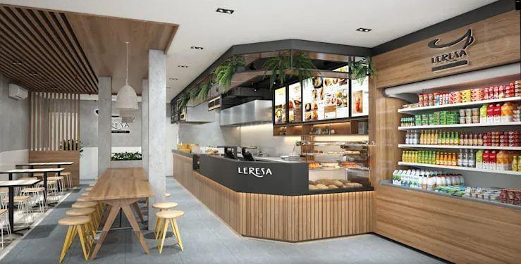 Quầy Order cực kỳ bắt mắt - Thiết kế quán Cà phê nhỏ