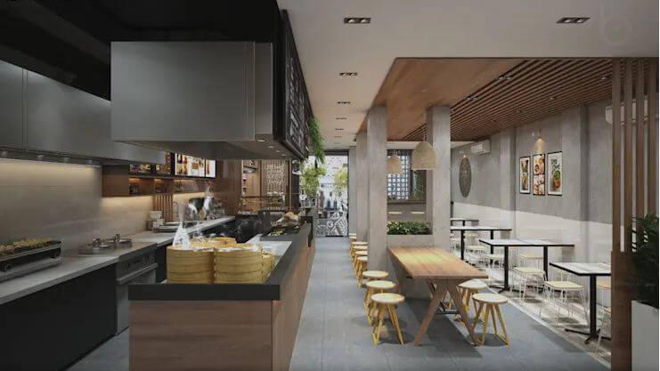Không gian hiện đại và thân thiện - Thiết kế quán Cà phê nhỏ