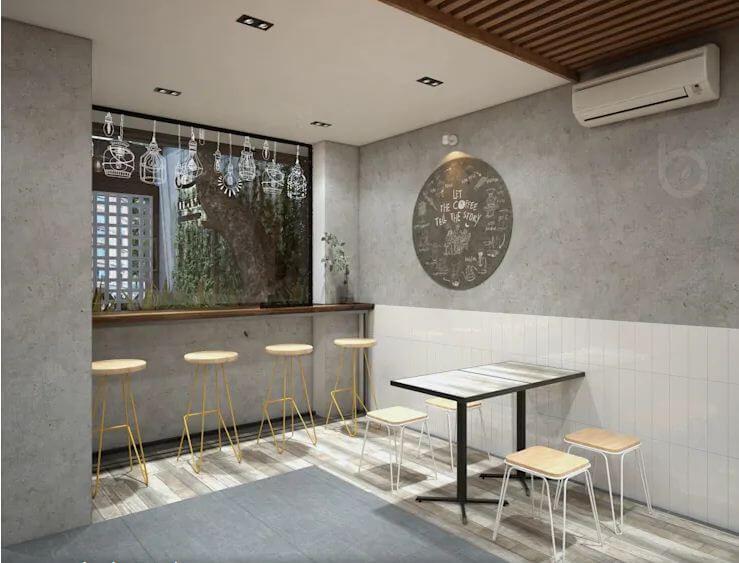 Không gian hiện đại và thân thiện - Thiết kế quán Cà phê nhỏ - 1