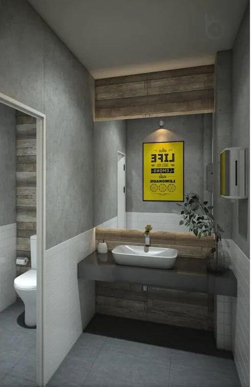 Phòng vệ sinh đơn giản mà đẹp - Thiết kế quán Cà phê nhỏ