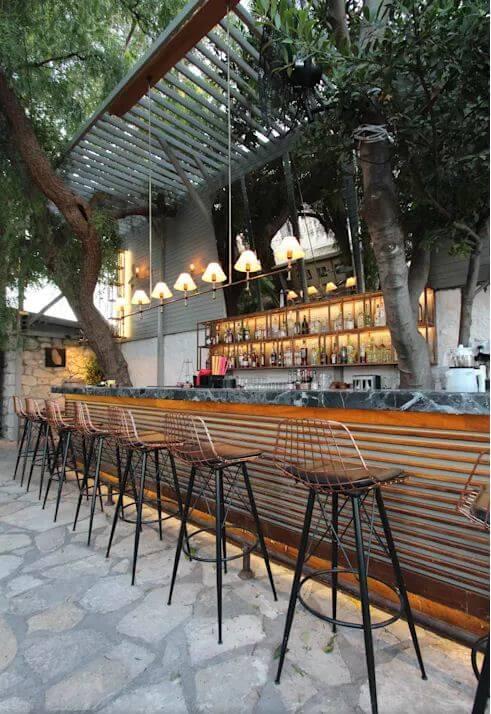 Không gian quầy Bar hiện đại và bắt mắt - Thiết kế Cà phê sân vườn