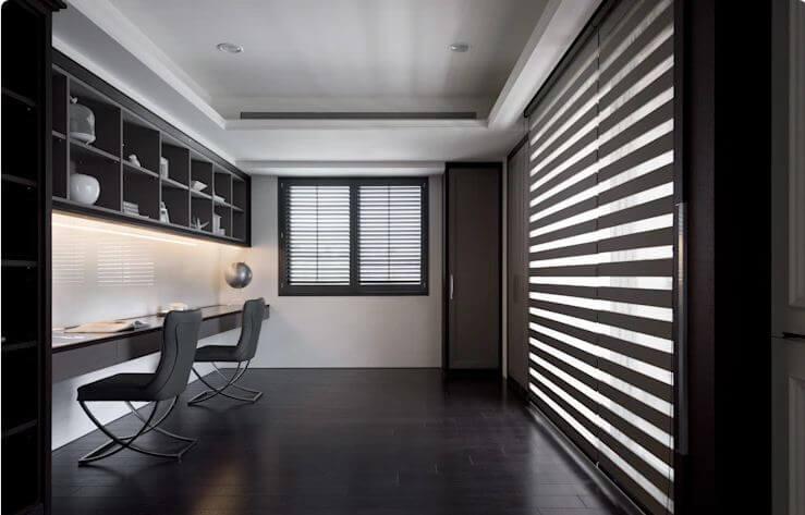 Phòng làm việc sang trọng với gam màu tối - Thiết kế Studio / Không gian phòng làm việc