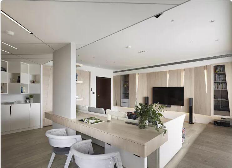 Phòng làm việc đẹp mắt với gam màu trắng - Thiết kế Studio / Không gian phòng làm việc