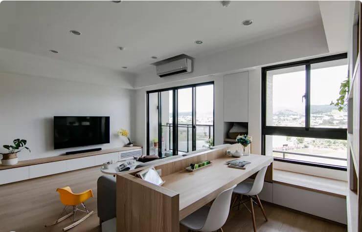 Phòng làm việc đầy hứng khởi trong căn hộ - Thiết kế Studio / Không gian phòng làm việc