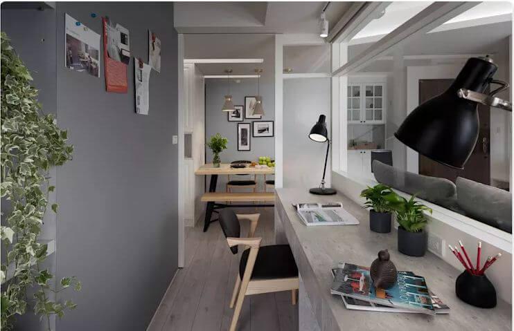 Phòng làm việc hiện đại, tận dụng không gian - Thiết kế studio / Không gian phòng làm việc