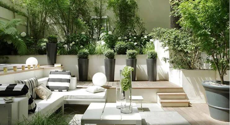 Không gian sinh hoạt ngoài trời với Sofa - Ngoại thất nhà đẹp