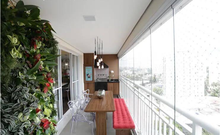 Ban công nhỏ với không gian bếp ngoài trời - Ngoại thất nhà đẹp