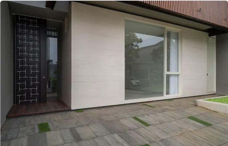 Những gam màu đơn giản - Ngôi nhà phố 2 tầng hiện đại đẹp