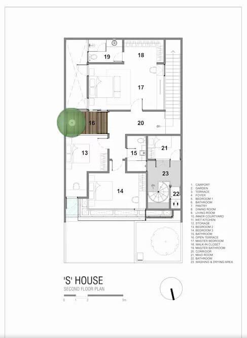 Bản vẽ kỹ thuật chi tiết 2 tầng nhà và mái - Ngôi nhà phố 2 tầng hiện đại đẹp - 1