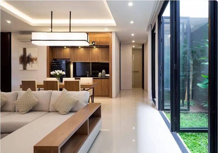 Ưu điểm của kiến trúc mở - Ngôi nhà phố 2 tầng hiện đại đẹp