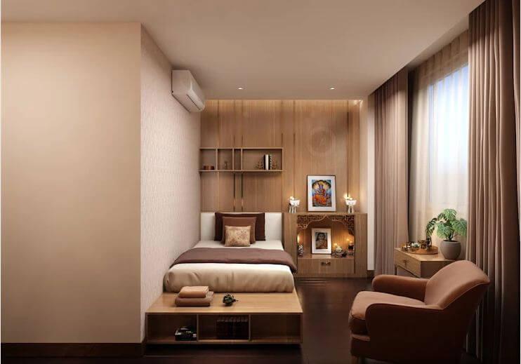 Phòng ngủ nhỏ - Thiết kế căn hộ Penthouse